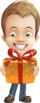 Cute Child Cartoon Vector Character AKA Georgie - Gift