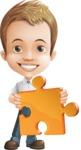 Cute Child Cartoon Vector Character AKA Georgie - Puzzle