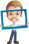 Cute Child Cartoon Vector Character AKA Georgie - Frame