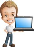 Cute Child Cartoon Vector Character AKA Georgie - Laptop 2