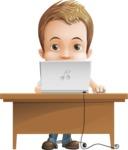Cute Child Cartoon Vector Character AKA Georgie - Laptop 3