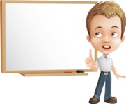 Cute Child Cartoon Vector Character AKA Georgie - Presentation 3