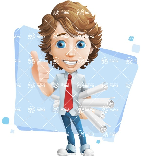 boy cartoon character vector pack - Mark - GraphicMama's bestseller - Shape5