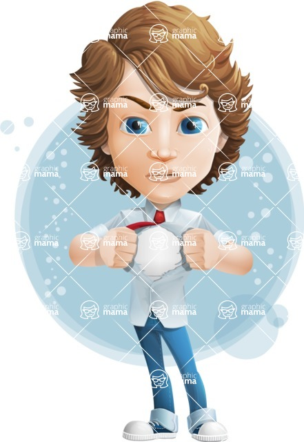 boy cartoon character vector pack - Mark - GraphicMama's bestseller - Shape7
