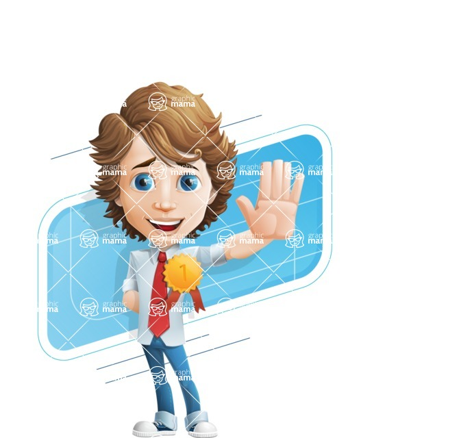 boy cartoon character vector pack - Mark - GraphicMama's bestseller - Shape10
