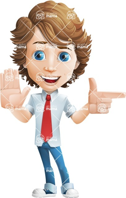 boy cartoon character vector pack - Mark - GraphicMama's bestseller - Direct Attention