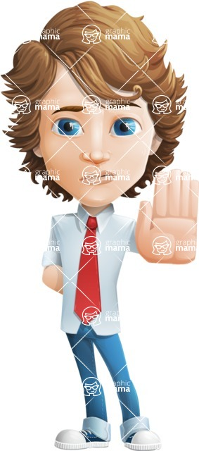 boy cartoon character vector pack - Mark - GraphicMama's bestseller - Stop