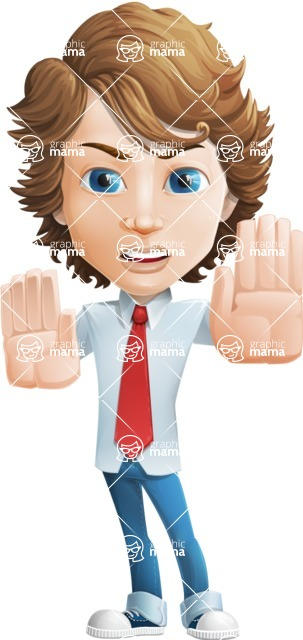boy cartoon character vector pack - Mark - GraphicMama's bestseller - Stop2