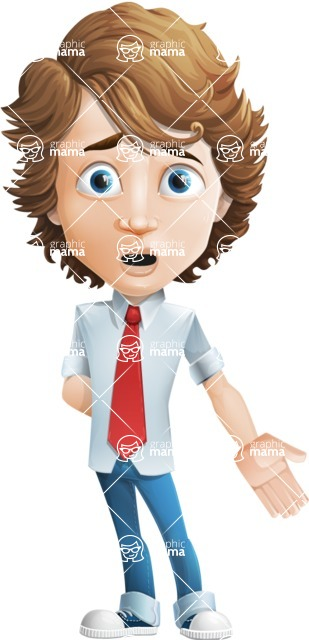 boy cartoon character vector pack - Mark - GraphicMama's bestseller - Stunned