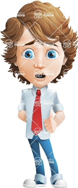 boy cartoon character vector pack - Mark - GraphicMama's bestseller - Sad
