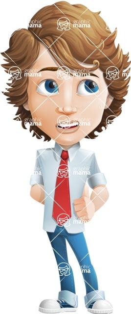 boy cartoon character vector pack - Mark - GraphicMama's bestseller - Roll Eyes