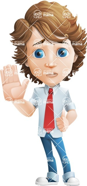 boy cartoon character vector pack - Mark - GraphicMama's bestseller - Goodbye