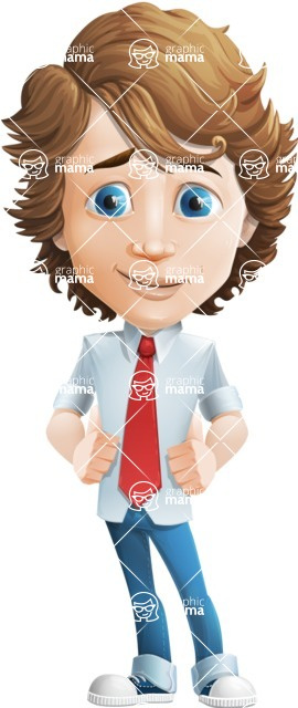 boy cartoon character vector pack - Mark - GraphicMama's bestseller - Patient