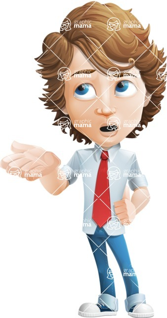 boy cartoon character vector pack - Mark - GraphicMama's bestseller - Bored