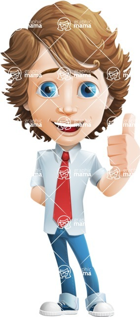 boy cartoon character vector pack - Mark - GraphicMama's bestseller - Thumbs Up
