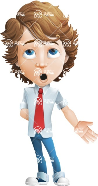 boy cartoon character vector pack - Mark - GraphicMama's bestseller - Bored2