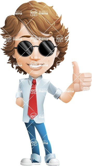 boy cartoon character vector pack - Mark - GraphicMama's bestseller - Sunglasses