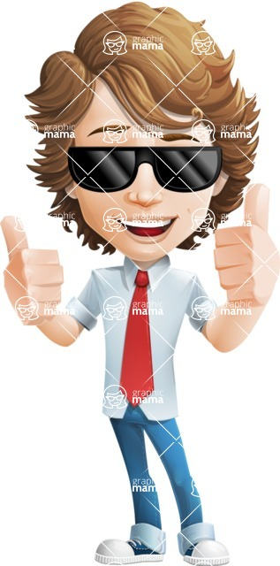 boy cartoon character vector pack - Mark - GraphicMama's bestseller - Sunglasses2