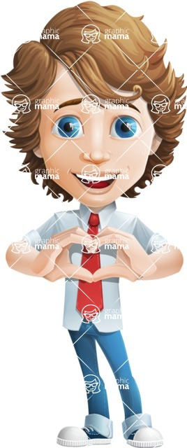 boy cartoon character vector pack - Mark - GraphicMama's bestseller - Show Love