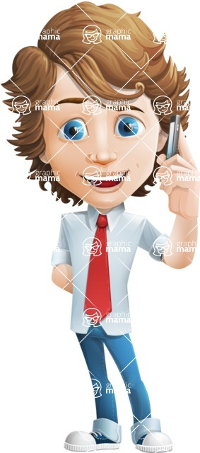 boy cartoon character vector pack - Mark - GraphicMama's bestseller - Support