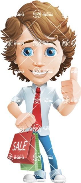 boy cartoon character vector pack - Mark - GraphicMama's bestseller - Sale