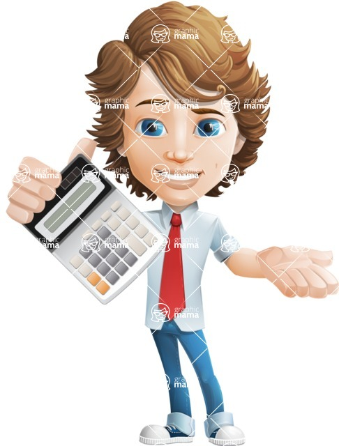 boy cartoon character vector pack - Mark - GraphicMama's bestseller - Calculator