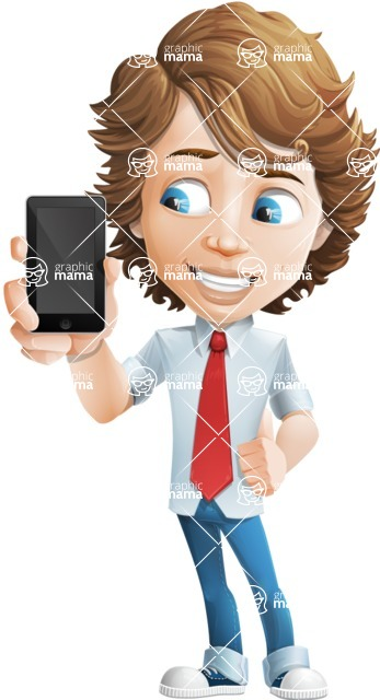 boy cartoon character vector pack - Mark - GraphicMama's bestseller - iPhone