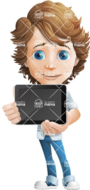 boy cartoon character vector pack - Mark - GraphicMama's bestseller - iPad2