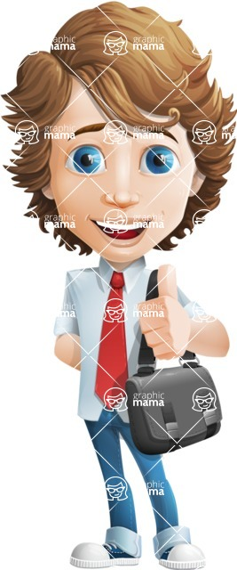 boy cartoon character vector pack - Mark - GraphicMama's bestseller - Travel2