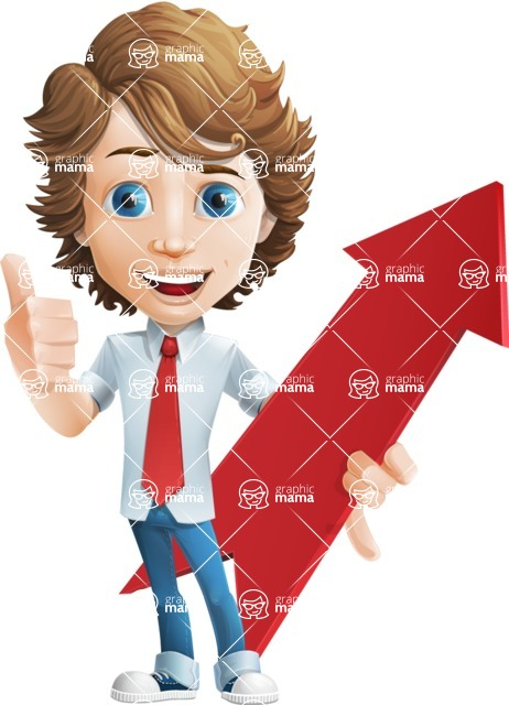 boy cartoon character vector pack - Mark - GraphicMama's bestseller - Arrow1