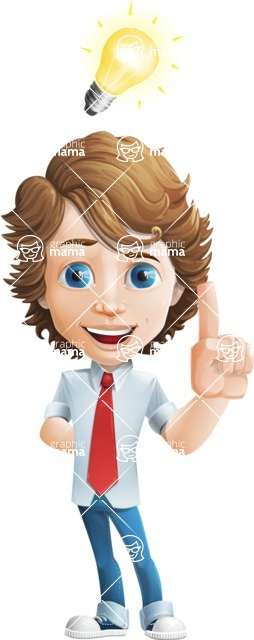 boy cartoon character vector pack - Mark - GraphicMama's bestseller - Idea1