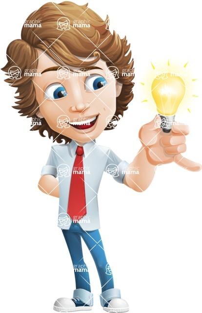 boy cartoon character vector pack - Mark - GraphicMama's bestseller - Idea2