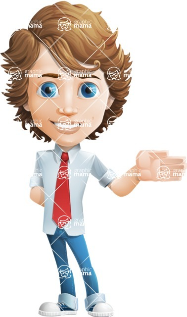 boy cartoon character vector pack - Mark - GraphicMama's bestseller - Show