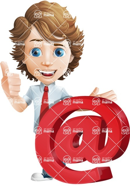 boy cartoon character vector pack - Mark - GraphicMama's bestseller - Email