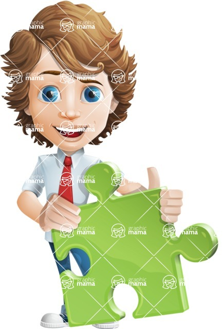 boy cartoon character vector pack - Mark - GraphicMama's bestseller - Puzzle