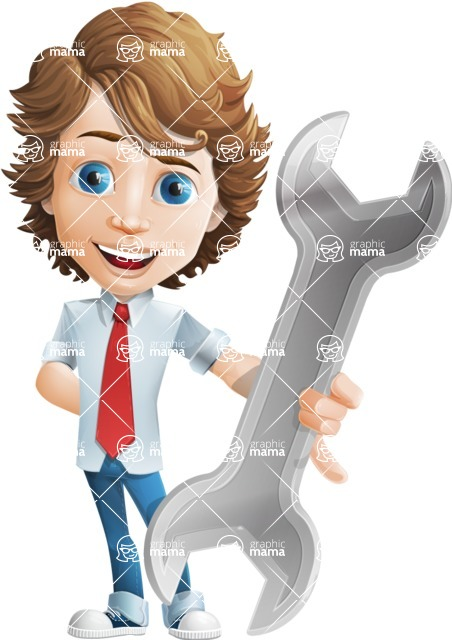 boy cartoon character vector pack - Mark - GraphicMama's bestseller - Repair