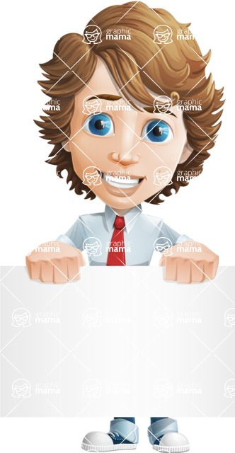 boy cartoon character vector pack - Mark - GraphicMama's bestseller - Sign2