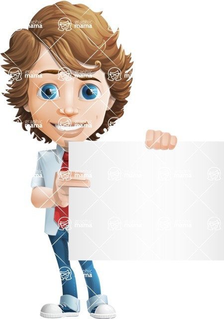 boy cartoon character vector pack - Mark - GraphicMama's bestseller - Sign3