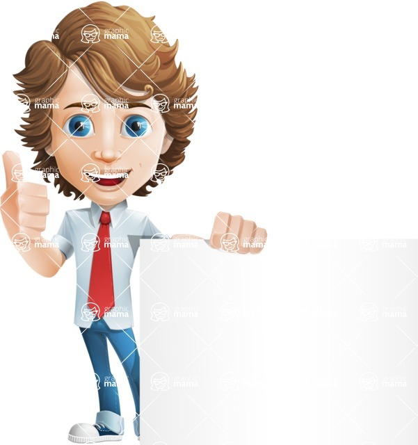 boy cartoon character vector pack - Mark - GraphicMama's bestseller - Sign7