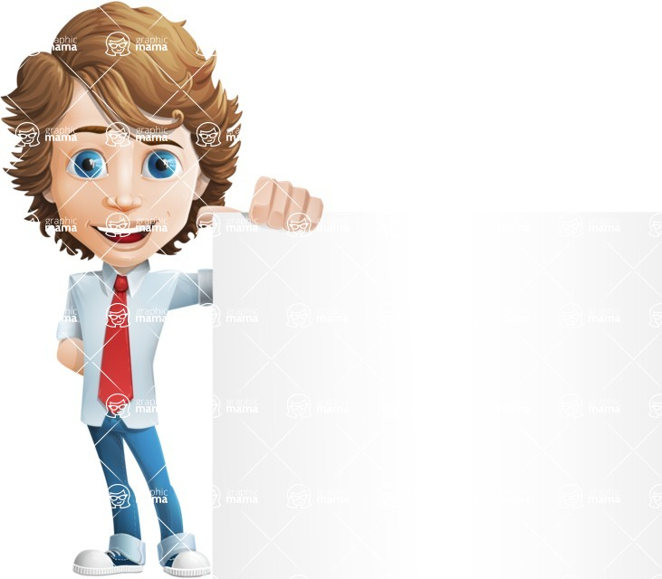 boy cartoon character vector pack - Mark - GraphicMama's bestseller - Sign8