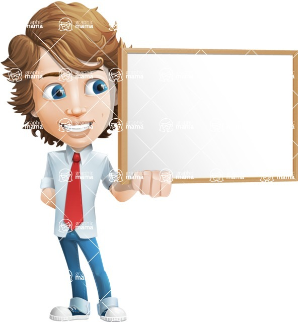 boy cartoon character vector pack - Mark - GraphicMama's bestseller - Presentation1