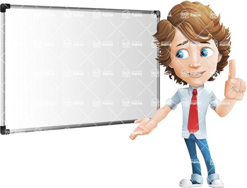 boy cartoon character vector pack - Mark - GraphicMama's bestseller - Presentation5