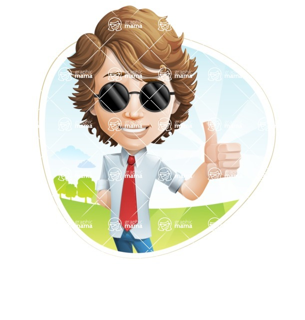 Vector Man Cartoon Character - Shape3