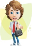 boy cartoon character vector pack - Mark - GraphicMama's bestseller - Shape8