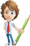boy cartoon character vector pack - Mark - GraphicMama's bestseller - cartoon male character young boy - Mark Millennial with pencil - GraphicMama bestseller
