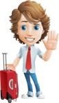 Vector Man Cartoon Character - Travel1