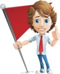 boy cartoon character vector pack - Mark - GraphicMama's bestseller - Checkpoint