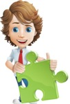 Vector Man Cartoon Character - Puzzle
