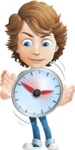 boy cartoon character vector pack - Mark - GraphicMama's bestseller - Time is Yours