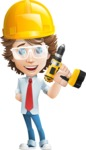 Vector Man Cartoon Character - Under Construction2